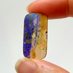 Australian Boulder Opal - 14.74 Ct white and purple boulder opal - Broken River Mining