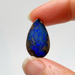 Australian Boulder Opal - 10.78 Ct beautiful blue teardrop boulder opal - Broken River Mining