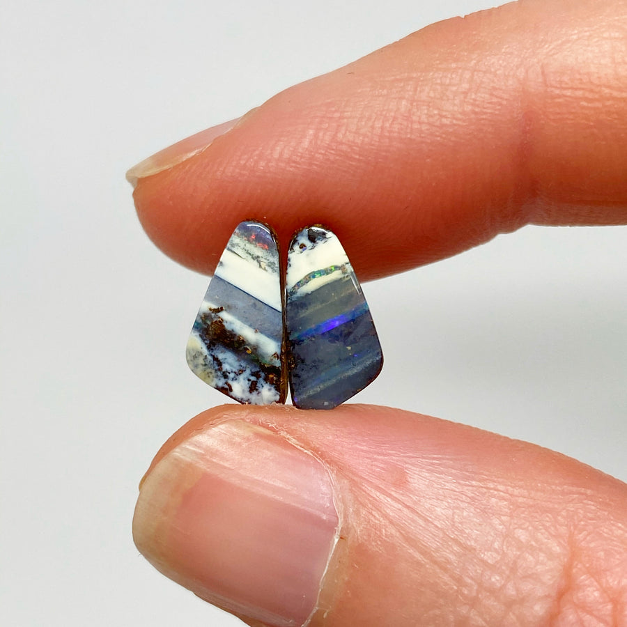 2.43 Ct small boulder opal pair
