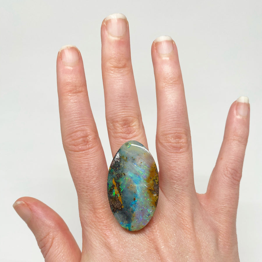 47.06 Ct large oval boulder opal