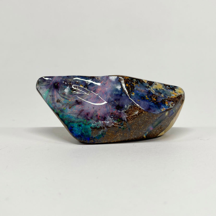 225 Ct pink and green boulder opal specimen