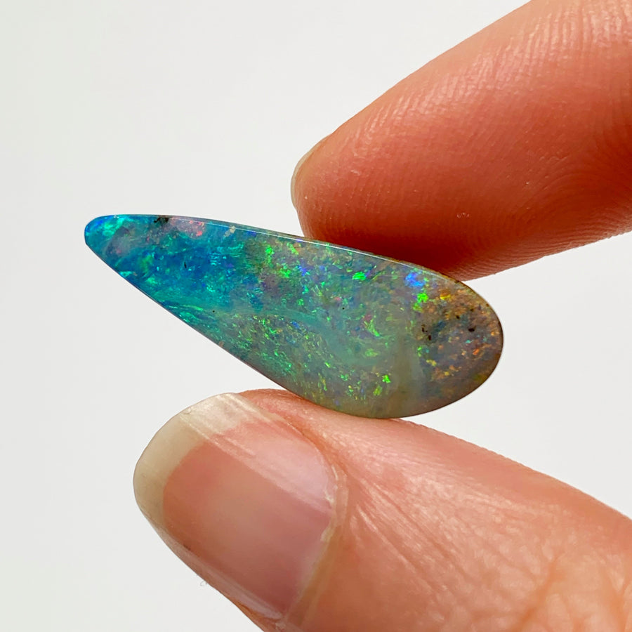Australian Boulder Opal - 6.88 Ct colourful freeform boulder opal - Broken River Mining
