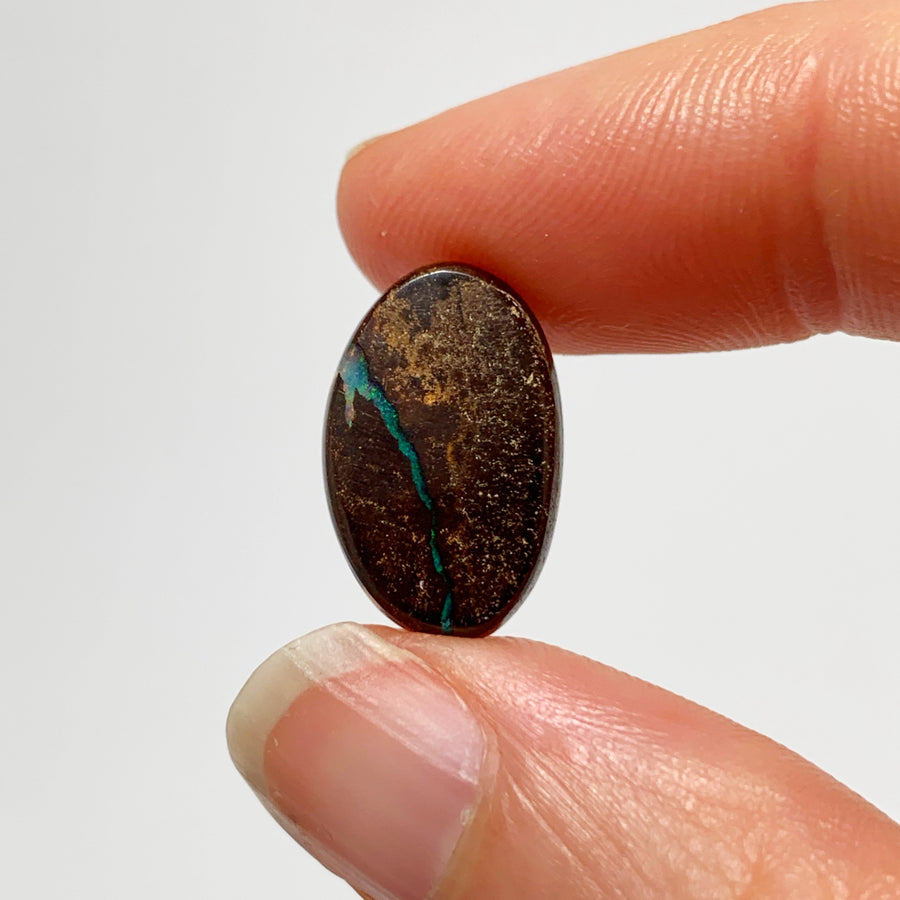 Australian Boulder Opal - 4.21 Ct freeform pink, green and ironstone boulder opal - Broken River Mining