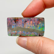 Australian Boulder Opal - 59.47 Ct large rectangle boulder opal - Broken River Mining
