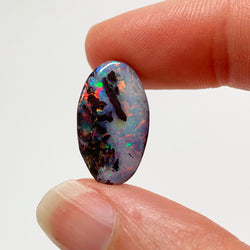 Australian Boulder Opal - 6.93 Ct colourful 'light and dark' boulder opal - Broken River Mining