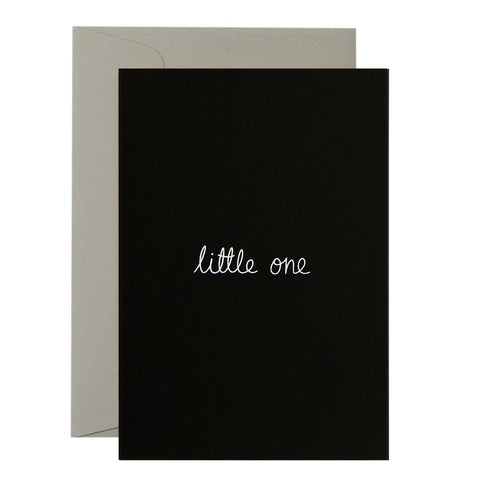 CARD - LITTLE ONE - WHITE ON BLACK
