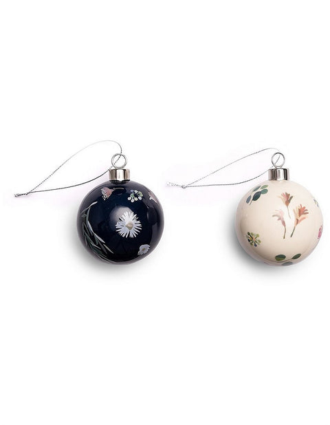 CERAMIC BAUBLE - SET OF 2