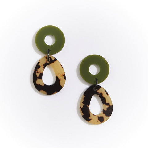 CAMELIA EARRINGS - LEOPARD LIGHT