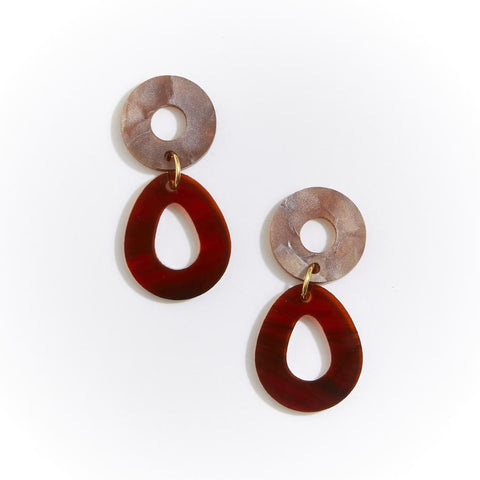 CAMELIA EARRINGS - TORTOISE SHELL