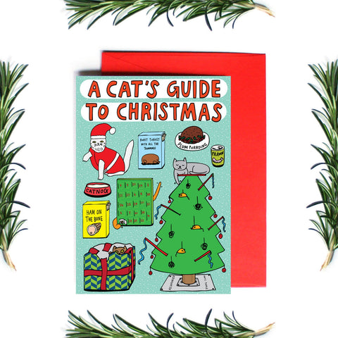 A CAT'S GUIDE TO CHRISTMAS - CARD