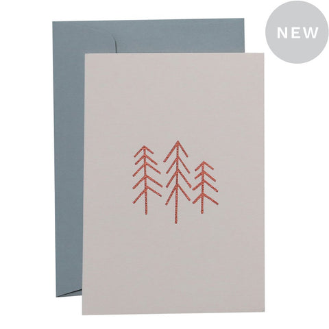 3 TREES - COPPER ON BLUSH CARD