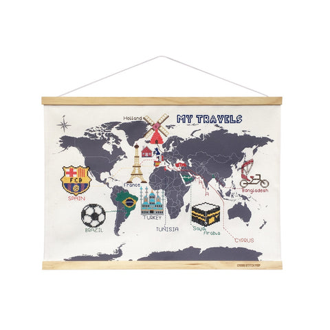 CROSS STITCH MAP - MINI