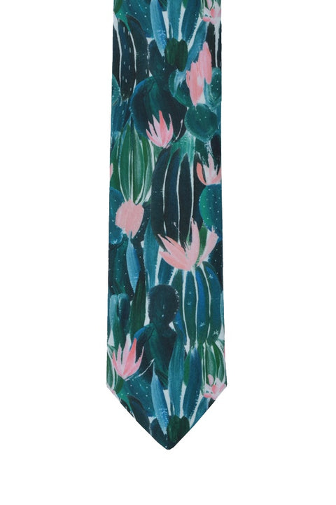 CACTUS FLOWER COTTON TIE