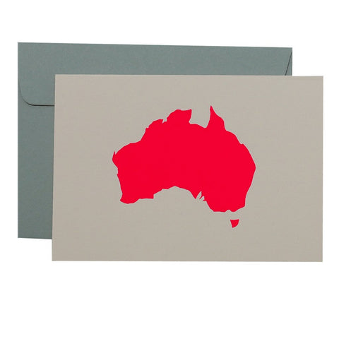 MAP - NEON CORAL ON BLUSH - CARD