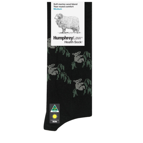 FINE MERINO WOOL HEALTH SOCK - KOALA