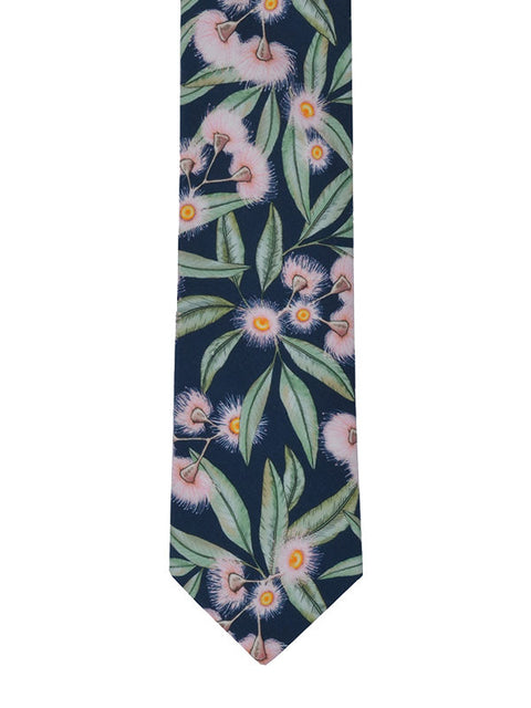 FLOWERING GUM COTTON TIE