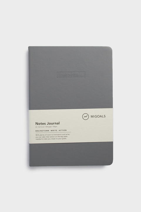 NOTES JOURNAL-A5-SOFT COVER-GREY