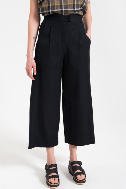 CLASSIC WIDE LEG TAILORED PANT - ASSORTED COLOURS