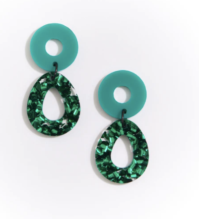 CAMELIA EARRINGS - GREEN