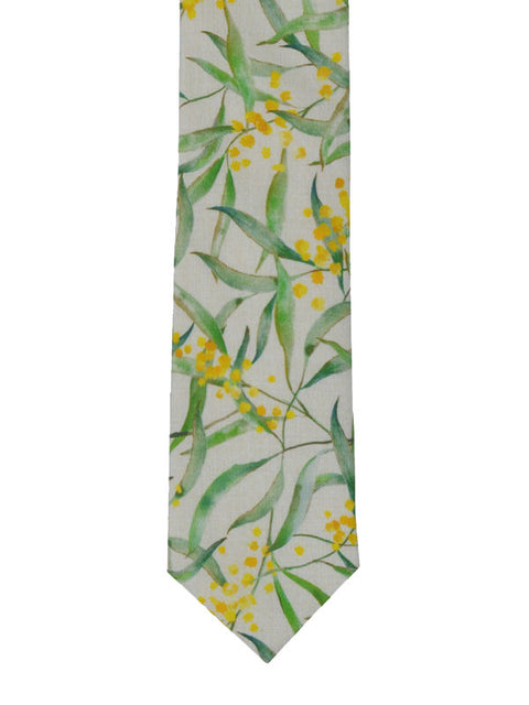 WATTLE COTTON TIE
