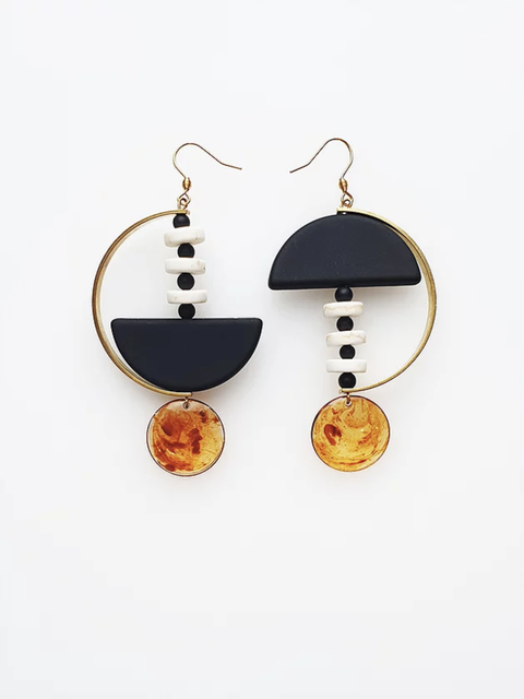 MONUMENT EARRINGS MIDDLECHILD - BLACK