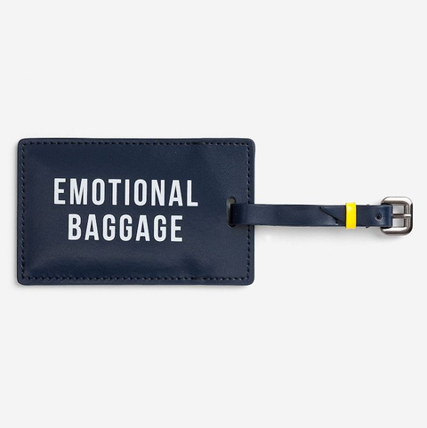 EMOTIONAL BAGGAGE - LUGGAGE TAG - NAVY