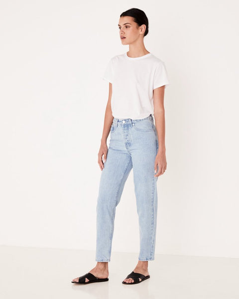 HIGH WAISTED RIGID JEAN - PACIFIC BLUE
