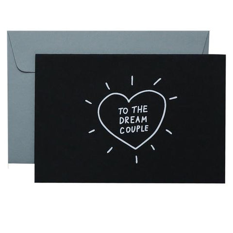DREAM COUPLE - WHITE ON BLACK - CARD