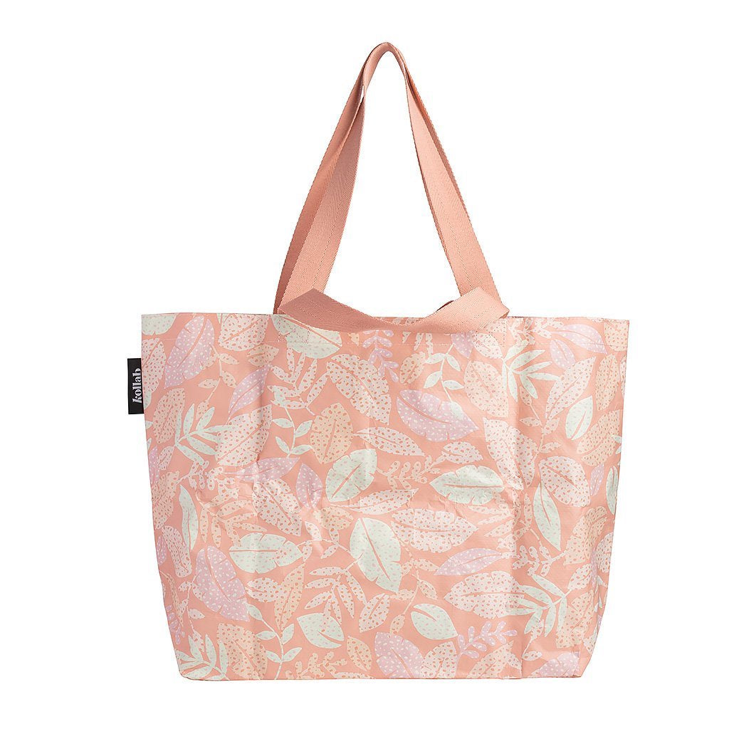 POLY SHOPPER TOTE - SPOTTY LEAVES