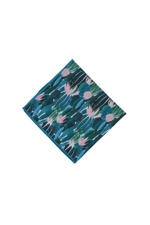 CACTUS FLOWER POCKET SQUARE