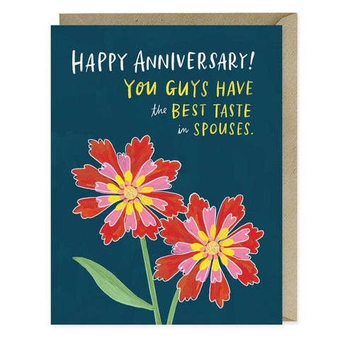 TASTES IN SPOUSES ANNIVERSARY - CARD