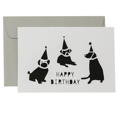 DOGS BIRTHDAY - BLACK ON WHITE