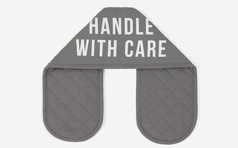 HANDLE WITH CARE OVEN MITTS