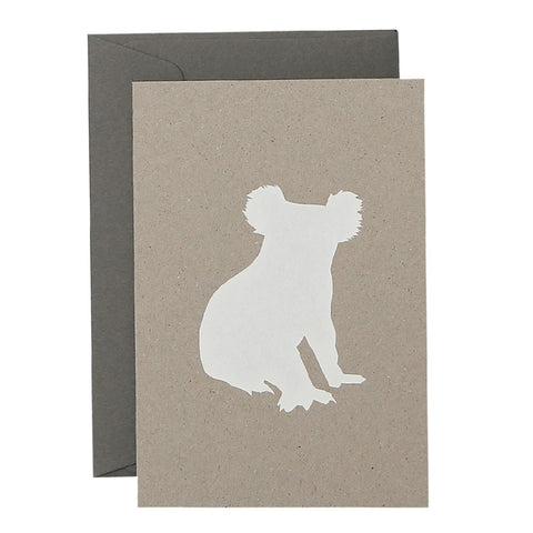 KOALA - WHITE ON NATURAL -  CARD