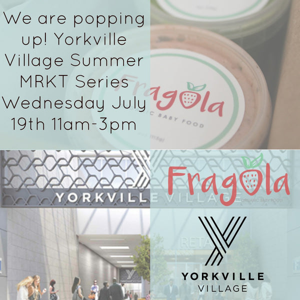 We are popping up at Yorkville Village!