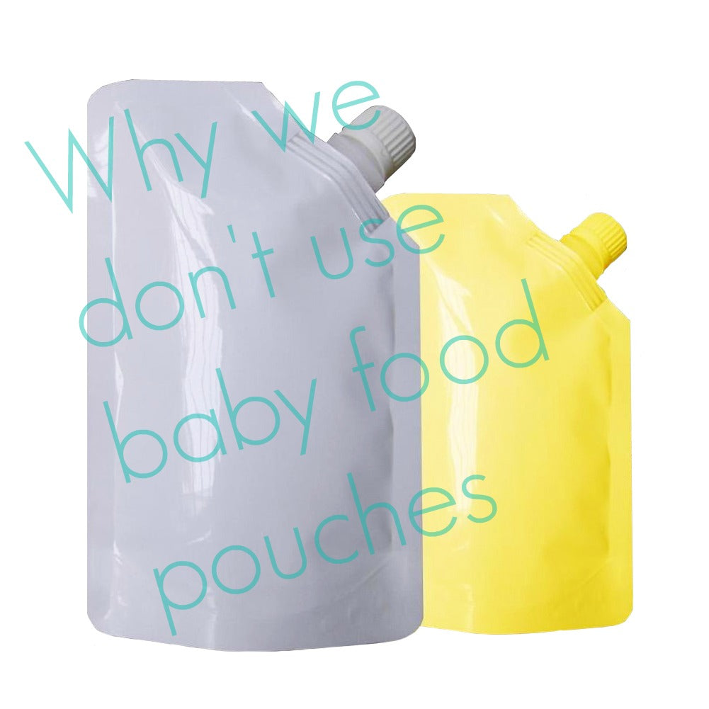 Check out our new video about why we don't use baby food pouches!