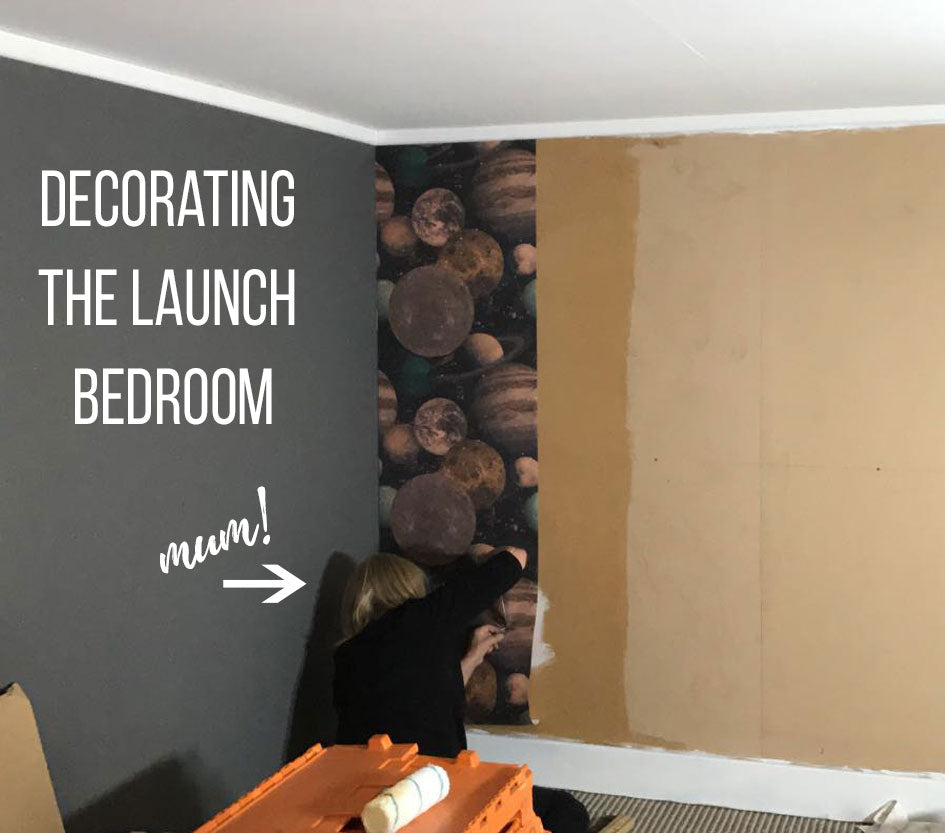 Decorating the Launch bedroom