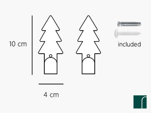 2-Fir-Tree-Hooks sizes