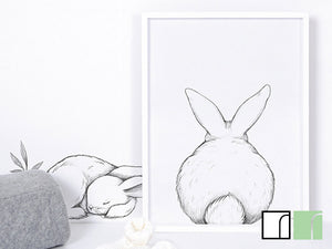 3 bunnies wall stickers lilipinso