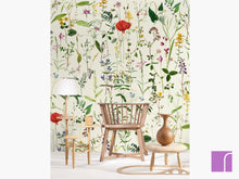 Aquafleur Taupe Foral Wallpaper
