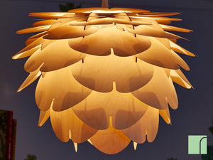 Illuminated Wooden Lampshade