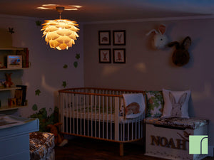 Wooden Lampshade In The Hedgehugs Nursery