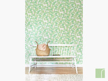 Apple Garden Green Majvillan Wallpaper