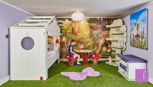 Tree Shelves in Fairy Bedroom