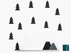Black-Mountain-Shelf-and-Fir-tree-stickers