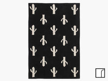 Black and White Cactus Rug