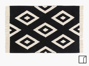 Black and White Diamond Rug