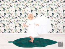 Blossom-Wallpaper-rose-and-leaf-rug