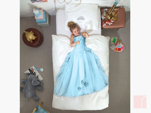 Snurk Blue Princess Bedding Set