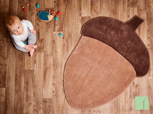 Acorn Rug In Woodland Nursery